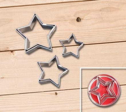 Cortantes Bolachas Estrelas