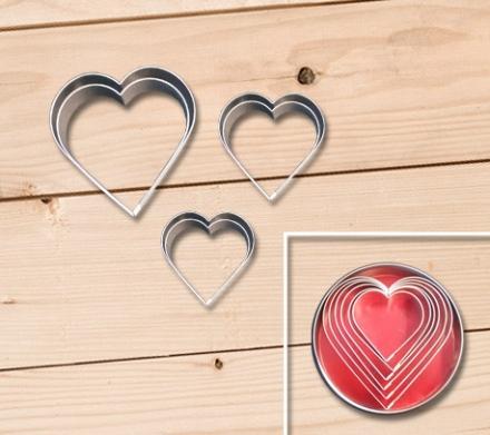 Cortantes Bolachas Coração