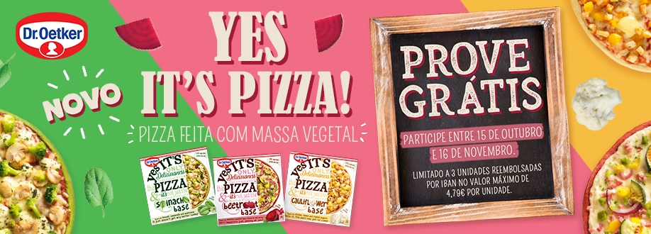 Prove Grátis as YES it's Pizza